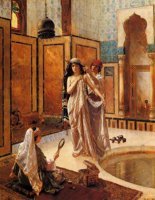 44802337_1244325261__Arabian_paintings_The_Harem_Bath_by_Ernst_Rudolph_ZEI1156